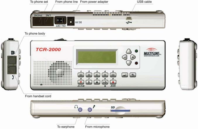 Multisuns MircoLog TCR-2000 Voice Recorder - Click Image to Close